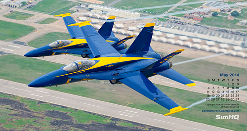 May 2014 SimHQ Calendar - Blue Angels by Steven Serdikoff